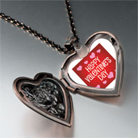 Items from KS - happy valentine' s day heart locket pendant necklace Image.