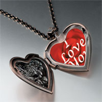 Items from KS - i love heart locket pendant necklace Image.
