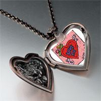 Items from KS - love ya heart locket pendant necklace Image.