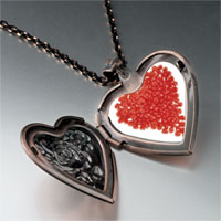 Items from KS - red hots heart heart locket pendant necklace Image.