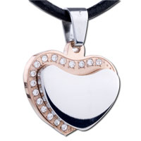 Men Jewelry Layer Heart Stainless Steel Necklaces Pendant For Men