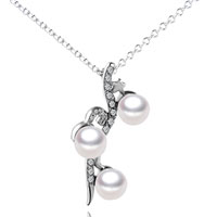 Sterling Silver Pearl Star Pendant Necklace Sterling Silver Pendant