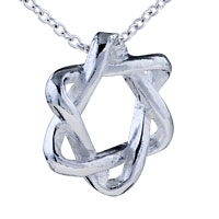 Star Of David Sterling Silver Pendant Necklace Gifts For Women Earrings