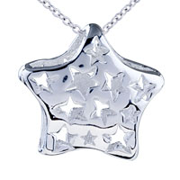 Filigree Vintage Antique Star Sterling Silver Pendant Necklace Gifts For Women