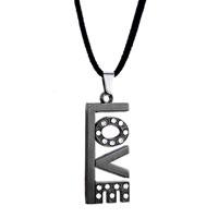 Black Sweet Love Dangle Clear Crystal Pendant For Men
