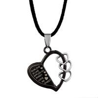 Sweet Love Black Heart Half Hollow Triple Little Pendant For Men