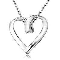 Necklace Open Heart Bridal Love Pendant Necklace Womens Gifts Necklace