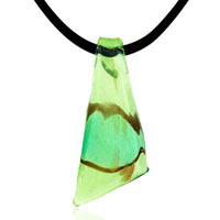 Green Murano Glass Turquoise Necklace Pendant For Women 18 Earrings