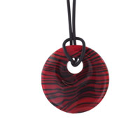 Necklace Murano Glass Dark Red Black Waves Upsale Pendant Necklace Ideas Round