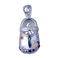 925 Sterling Silver Dance Shoe Pendant Necklace Sterling Silver Pendant