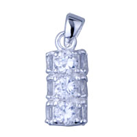 925 Sterling Silver Cylinder Pendant Necklace Sterling Silver Pendant