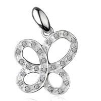 925 Sterling Silver Asymmetric Butterfly Pendant Necklace Sterling Silver Pendant