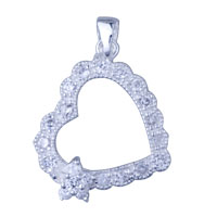 925 Sterling Silver Heart Shaped Pendant Necklace Christmas Sterling Silver Pendant