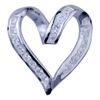 925 Sterling Silver Romantic Heart Pendant Necklace Sterling Silver Pendant