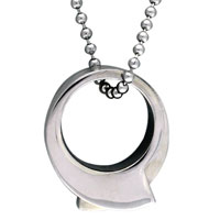 925 Sterling Silver Circular Half Piece Metalwork Symbol Stainless Steel Necklaces Pendant For Men