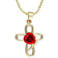 Cross Necklaces Gold Celtic Cross Stud Rose Easter Day Pendant Necklace