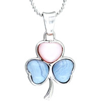 Sterling Silver Multicolor Heart Beaded V Necks Pearl Jewelry Pink Pendant Necklace
