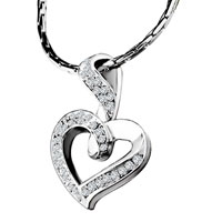 Mothers Day Gifts Noble Crystal Heart Pendant Necklace