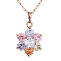 Pugster Shining Colorful 6 Petals Snowflake Pendant