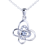 Clover Crystal Pendant Necklace