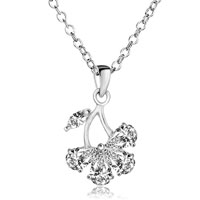 Butterfly Clear Crystal Pendant Necklace