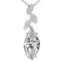 Diamond Swarovski Crystal Pendant Necklace