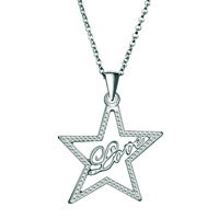 Filigree Vintage Antique Star Word Love Necklace Pendant For Women Earrings