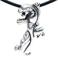 925 Sterling Silver Lizard Pendant Necklace Sterling Silver Pendant