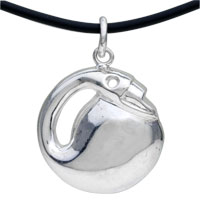 925 Sterling Silver Chubby Fish Pendant Necklace Sterling Silver Pendant