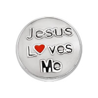 Jewelry Floating Memory Living Locket Jesus Loves Me Round Charms