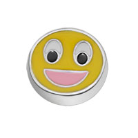 Jewelry Floating Memory Living Locket Cute Happy Smiling Face Charms