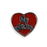 Floating Charms My Girls Red Heart For Living Memory Lockets