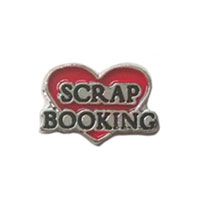 Floating Charms Scrap Booking Red Heart For Living Memory Lockets