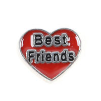 Floating Charms Best Friends Red Heart For Living Memory Lockets