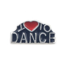 Floating Charms Antique I Love To Dance For Living Memory Lockets