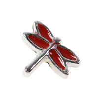Red Dargonfly Animal Floating Charms For Living Memory Lockets