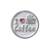 I Love Coffee Silver Tone Floating Charms For Living Memory Lockets