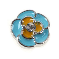 Floating Charms Aqua Flower Clear Crystal For Living Memory Locket