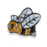Floating Charms Hard Working Bees Animal Charms For Memory Lockets