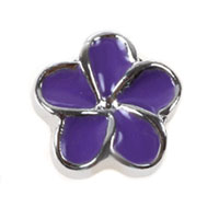Purple Flower Floating Charms For Living Memory Lockets