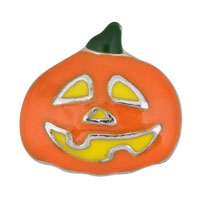 Pumpkin Head Floating Charms For Living Memory Glass Lockets