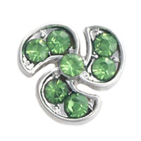 Propeller Green Crystal Cz Floating Charms For Living Memory Lockets