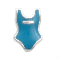 Blue Swimsuit Floating Charms For Living Memory Lockets