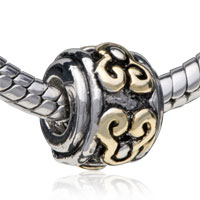 Silver Victorian Design European Infant Charm Bead Charms Bracelets