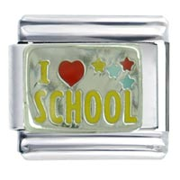 I Heart School Italian Charm Bracelet