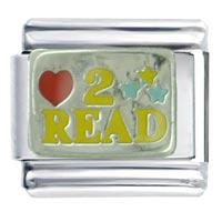 Heart 2 Read Italian Charm Bracelet