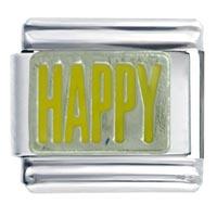 Happy Words Phrases Italian Charm Bracelet