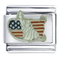 Jewelry Usa Flag Map Lady Liberty Travel Italian Charms Bracelets