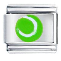 Sport Green Tennis Ball Italian Charms Bracelet Link