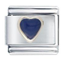 Heart Navy Blue March Fashion Jewelry Italian Charm Bracelet